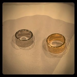 Two rings gold and silver NEW!
